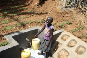 The Water Project: Shibikhwa Community, Musotsi Spring -  All Smiles At Water Point
