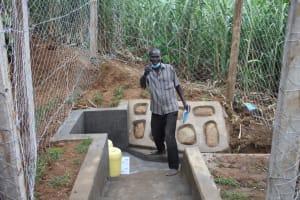 The Water Project: Shibikhwa Community, Musotsi Spring -  Benjamin At Spring Site
