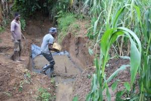 The Water Project: Shibikhwa Community, Musotsi Spring -  Concrete Slab