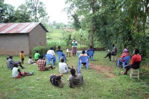 The Water Project: Shibikhwa Community, Musotsi Spring -  Mask Making Demonstration