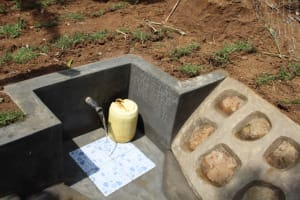 The Water Project: Shibikhwa Community, Musotsi Spring -  Water Flowing