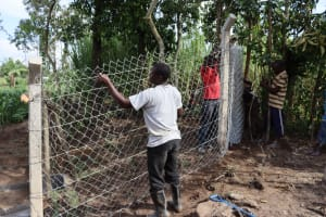 The Water Project: Shikokhwe Community, Mulika Spring -  Fencing