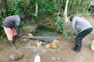 The Water Project: Shikokhwe Community, Mulika Spring -  Site Measurement