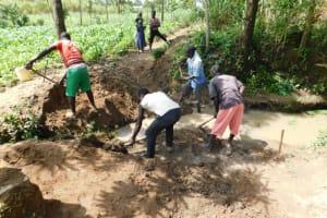 The Water Project: Shikokhwe Community, Mulika Spring -  Excavation Process