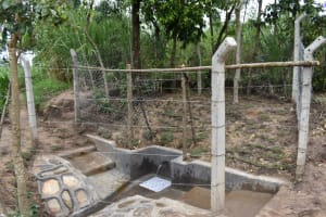The Water Project: Shikokhwe Community, Mulika Spring -  Complete Spring
