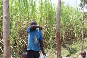 The Water Project: Shikokhwe Community, Mulika Spring -  Coughing Into The Elbow