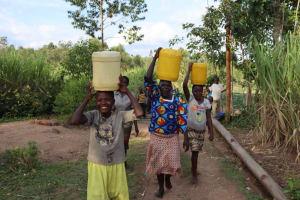 The Water Project: Shikokhwe Community, Mulika Spring -  Excited Community