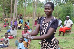 The Water Project: Shikokhwe Community, Mulika Spring -  Handwashing Demonstration