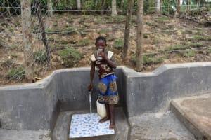 The Water Project: Shikokhwe Community, Mulika Spring -  Monika Drinking Clean Water