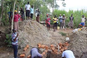 The Water Project: Shikokhwe Community, Mulika Spring -  Onsite Demonstration