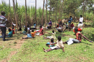 The Water Project: Shikokhwe Community, Mulika Spring -  Training In Session