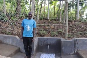 The Water Project: Shikokhwe Community, Mulika Spring -  Village Elder Mulika Shikuku