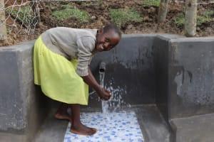 The Water Project: Shikokhwe Community, Mulika Spring -  Violet Splashing Water