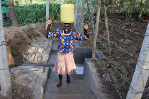 The Water Project: Shikokhwe Community, Mulika Spring -  Wafula Excited For Clean Water