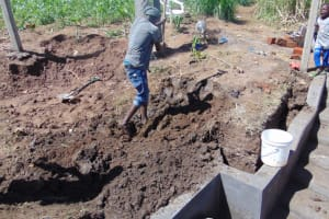 The Water Project: Mwera Community, Mukunga Spring -  Backfilling With