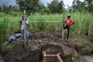 The Water Project: Mwera Community, Mukunga Spring -  Distances Between Poles