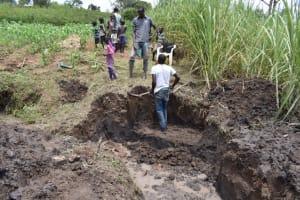 The Water Project: Mwera Community, Mukunga Spring -  Excavation