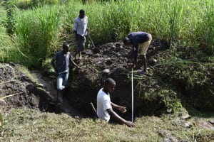 The Water Project: Mwera Community, Mukunga Spring -  Foundation Measurements