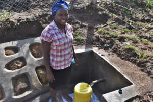 The Water Project: Mwera Community, Mukunga Spring -  At The Water Point