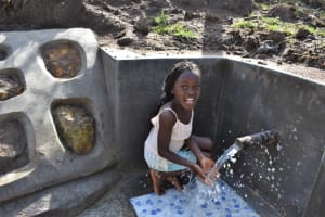 The Water Project: Mwera Community, Mukunga Spring -  Celebrating At The Water Point