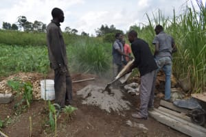 The Water Project: Mwera Community, Mukunga Spring -  Cement Works
