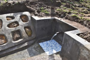 The Water Project: Mwera Community, Mukunga Spring -  Clean Water Flowing