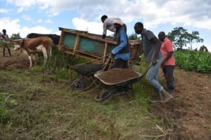 The Water Project: Mwera Community, Mukunga Spring -  Community Members Help