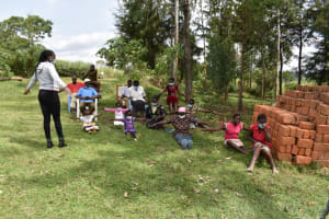The Water Project: Mwera Community, Mukunga Spring -  Physical Distance Test
