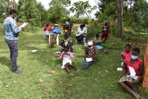 The Water Project: Mwera Community, Mukunga Spring -  Session On Covid