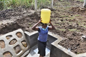 The Water Project: Mwera Community, Mukunga Spring -  Water From The Spring
