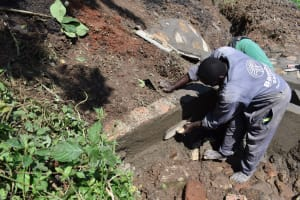 The Water Project: Sundulo B Community, Luvisia Spring -  Inside Plaster