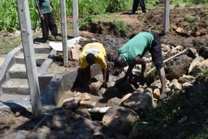 The Water Project: Sundulo B Community, Luvisia Spring -  Backfilling With