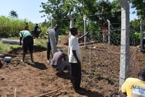 The Water Project: Sundulo B Community, Luvisia Spring -  Fencing