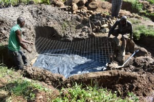 The Water Project: Sundulo B Community, Luvisia Spring -  Foundation Wire
