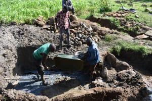 The Water Project: Sundulo B Community, Luvisia Spring -  Foundaton Concrete Mixture