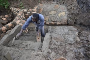 The Water Project: Sundulo B Community, Luvisia Spring -  Stairs Construction