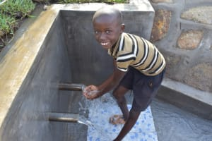 The Water Project: Sundulo B Community, Luvisia Spring -  Celebrating With Smiles