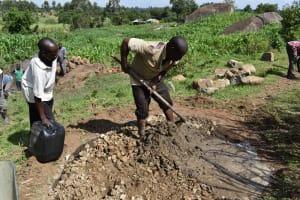 The Water Project: Sundulo B Community, Luvisia Spring -  Community Concrete Work