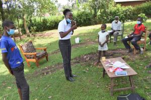 The Water Project: Sundulo B Community, Luvisia Spring -  Dental Hygiene Demostration