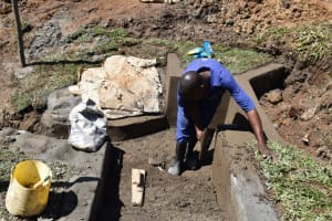 The Water Project: Shianda Community, Govet Lumbasi Spring -  Inside Plaster