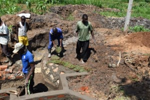 The Water Project: Shianda Community, Govet Lumbasi Spring -  Grass Planting