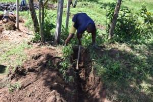 The Water Project: Shianda Community, Govet Lumbasi Spring -  Cut Off Drainage