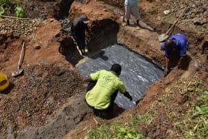 The Water Project: Shianda Community, Govet Lumbasi Spring -  Foundation Wire
