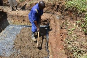 The Water Project: Shianda Community, Govet Lumbasi Spring -  Setting The Foundation