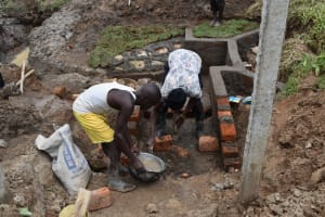 The Water Project: Shianda Community, Govet Lumbasi Spring -  Stairs Construction