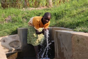 The Water Project: Shianda Community, Govet Lumbasi Spring -  All Smiles At Govet Lumbasi Spring