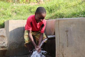 The Water Project: Shianda Community, Govet Lumbasi Spring -  Benjamin At The Waterpoint