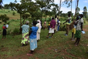 The Water Project: Shianda Community, Govet Lumbasi Spring -  Covid Prevention