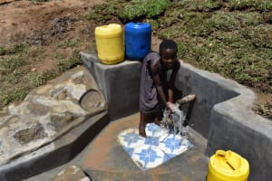 The Water Project: Shianda Community, Govet Lumbasi Spring -  Children Celebrating Water