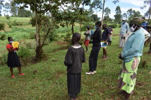 The Water Project: Shianda Community, Govet Lumbasi Spring -  Mask Making Illustration